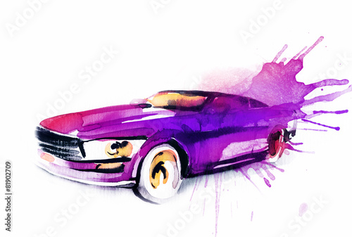 Car. Art sketch . Sport Car - 81902709