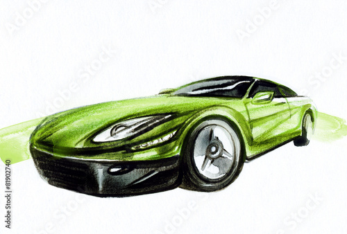 Car. Art sketch . Sport Car. Pencil drawing - 81902740