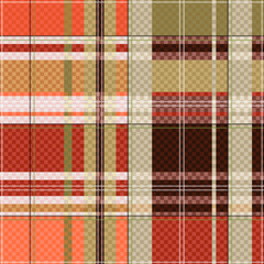 Tartan seamless texture mainly in light brown hues