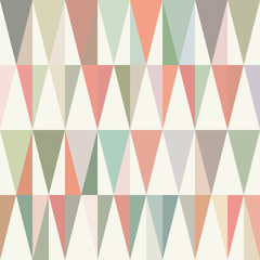 Colorful triangles pattern. Pastel hues. Seamless template