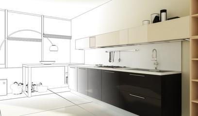 Küchenkonzept (Zeichnung)