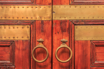 Moroccan doorway in a riad