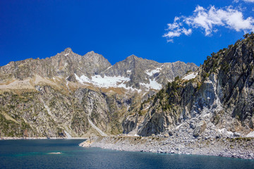 Amazing view of barrage Cap de Long in french Pyrenees