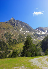 Beautiful mountain landscape in French Pyrenees