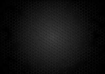 Dark tech background with hexagons