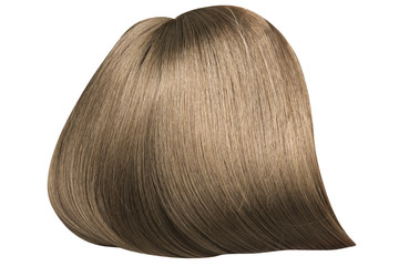 Brown, dense and straight hairpiece
