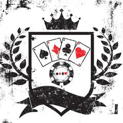 Poker shield insignia