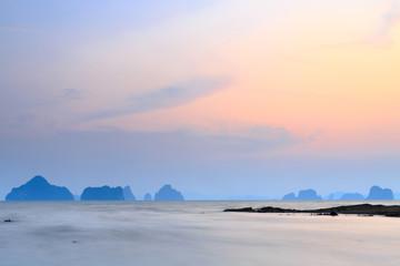 sea in sunset