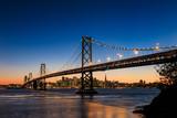 San Francisco skyline and Bay Bridge at sunset, California - Fine Art prints