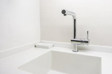 New modern white granite counter top for interior design