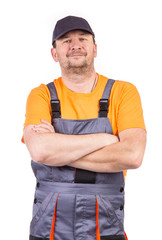 Smiling worker.