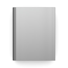 Book empty blank clean template single brochure hard cover