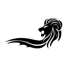 Vector logo black lion