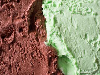 Chocolate and mint icecream
