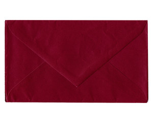 Red envelope isolated