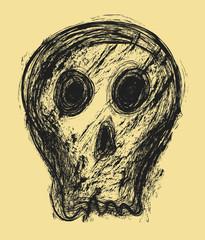 doodle skull, design element
