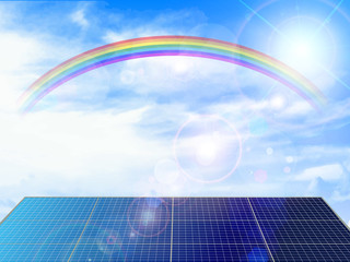 ソーラー 太陽光 背景