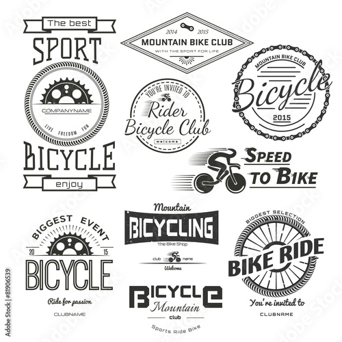 Fototapeta Bicycle badges logos and labels for any use.