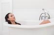 Pretty brunette taking a bath - 81906985