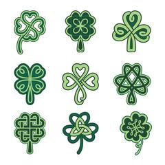 Celtic clover patterns.