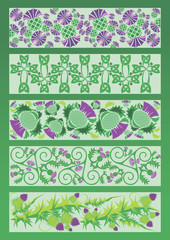 vector image ornament decorative elements in Celtic style