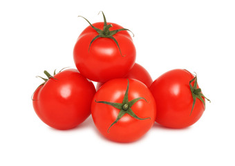 Pile of ripe tomatoes (isoalted)