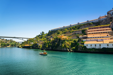 The Douro River in Porto, Portugal.