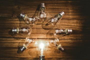 Light bulbs forming frame