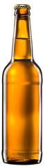 Bottle of beer on white background.