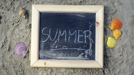 Summer written