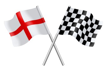 Flags : England and Checkerboard