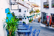 Mijas street. Charming white village in Andalusia