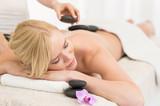 Fototapety Hot stone massage