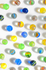 colorful glass marbles
