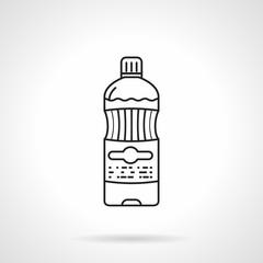 Water bottle black line vector icon
