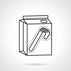 Juice pack black line vector icon
