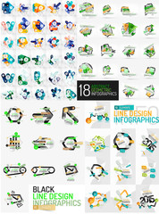 Mega set of infographic templates
