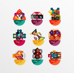 Set of abstract geometric shapes with options