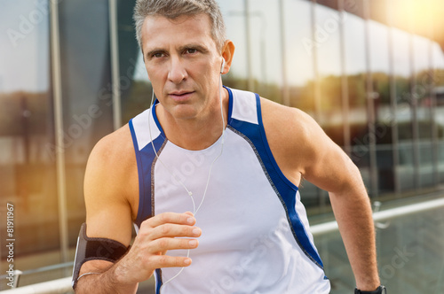 Mature Male Athlete Jogging