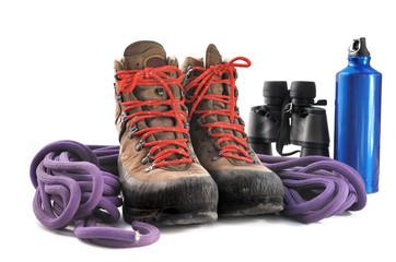chaussures de randonnée et équipement de montagne