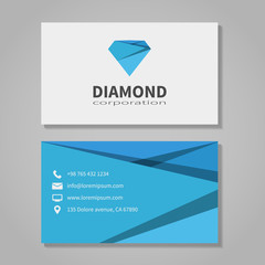 Diamond corporation business card template