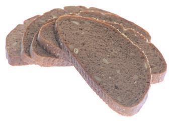 Brown bread slice