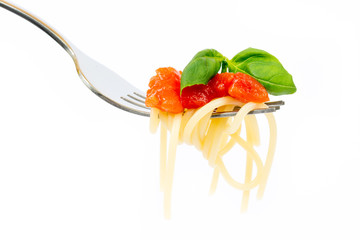 Isolated pasta on white background