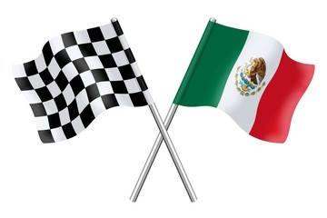 Flags : Checkerboard and Mexico
