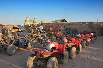 ATV and buggy safari in the parking lot