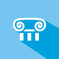 Icono capitel azul sombra