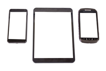 tablet, mobile isolated