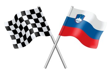 Flags : Checkerboard and Slovenia