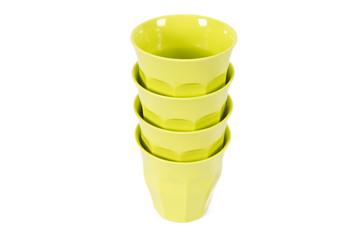 ceramic cups isolated