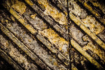 Street pavement texture with embossed lines